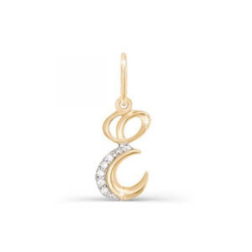 Подвес буква из золота с фианитом арт. 030722 030722