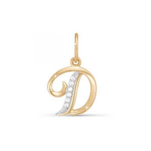 Подвес буква из золота с фианитом арт. 030731 030731