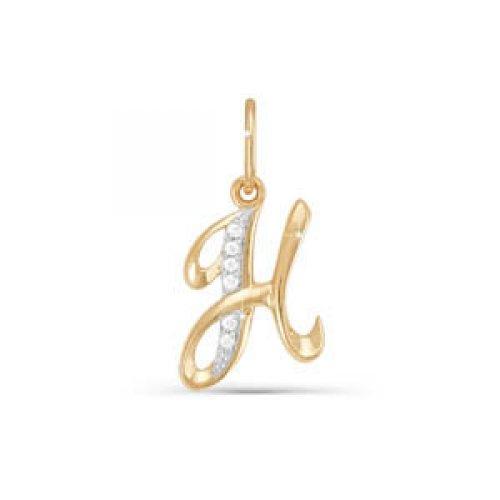 Подвес буква из золота с фианитом арт. 030732 030732