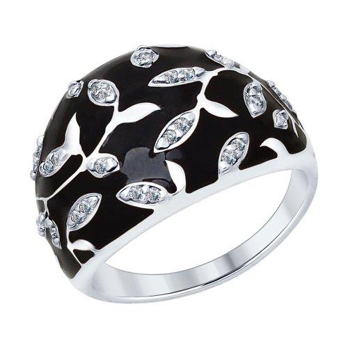 Серебряное кольцо Фианит и Эмаль арт. 94012592 94012592