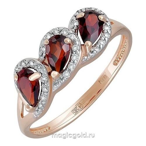 Золотое кольцо Гранат и Фианит арт. кл-723к-г кл-723к-г