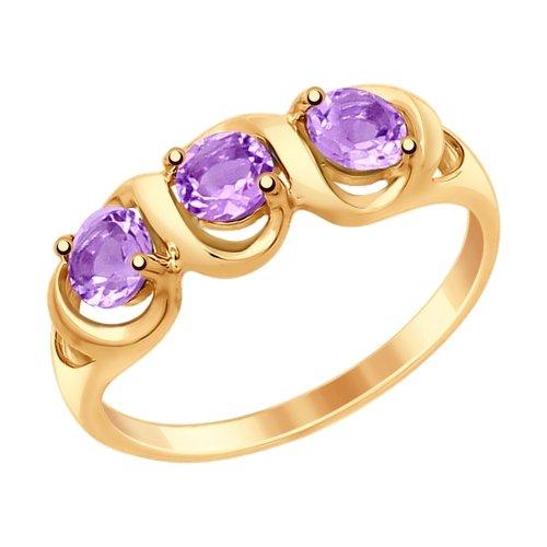 Золотое кольцо Аметист арт. 714864 714864