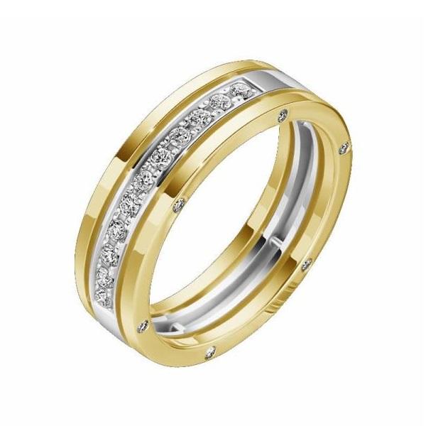 Обручальное кольцо из лимонного золота с бриллиантом арт. R0527101-04 R0527101-04