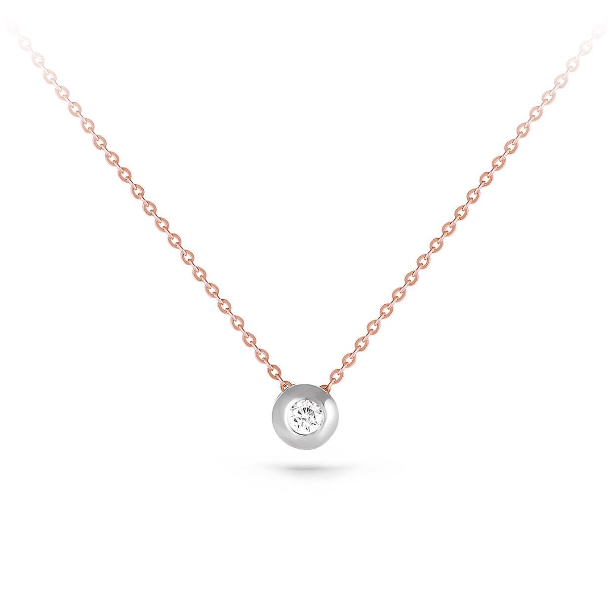 Золотое колье с бриллиантом арт. 6-0055-1000 6-0055-1000
