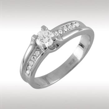 Помолвочное кольцо из белого золота с бриллиантом Бриллиант арт. 90818 90818