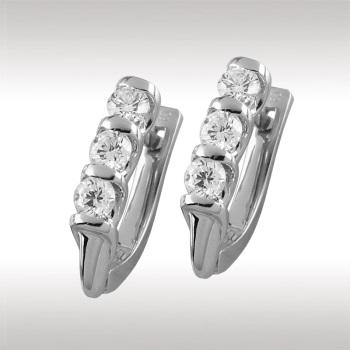 Серьги из белого золота с бриллиантом арт. 90758 90758