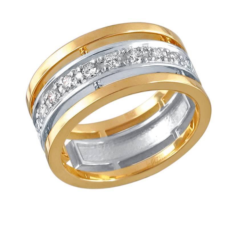Обручальное кольцо из золота с цирконием арт. 01о160301 01о160301