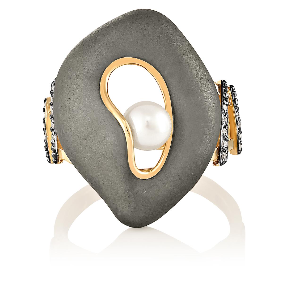 Золотое кольцо Бриллиант и Жемчуг арт. 11-0992-1500 11-0992-1500