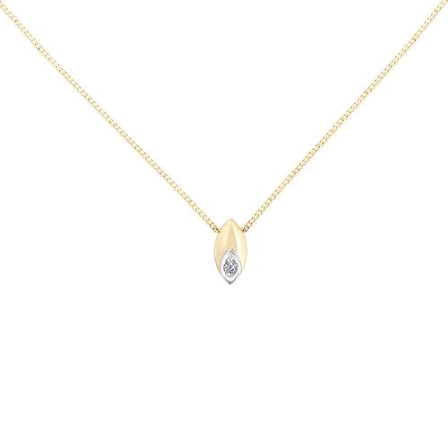 Колье из лимонного золота с бриллиантом арт. 6-302 6-302