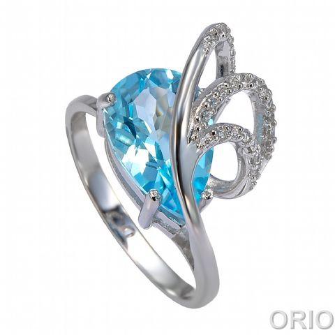 Серебряное кольцо Топаз и Фианит арт. 41100057 41100057