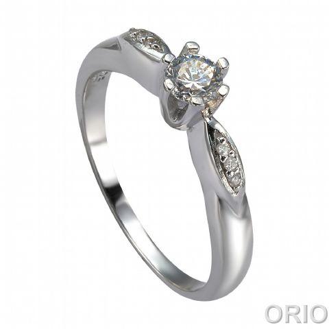 Серебряное кольцо Топаз и Фианит арт. 41100072 41100072