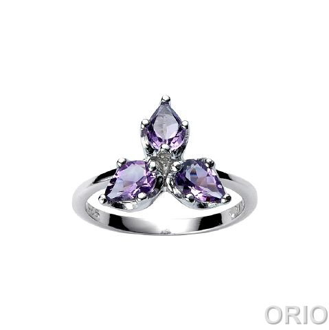 Серебряное кольцо Аметист и Фианит арт. 41100049 41100049
