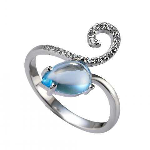 Серебряное кольцо Топаз и Фианит арт. 41100115 41100115