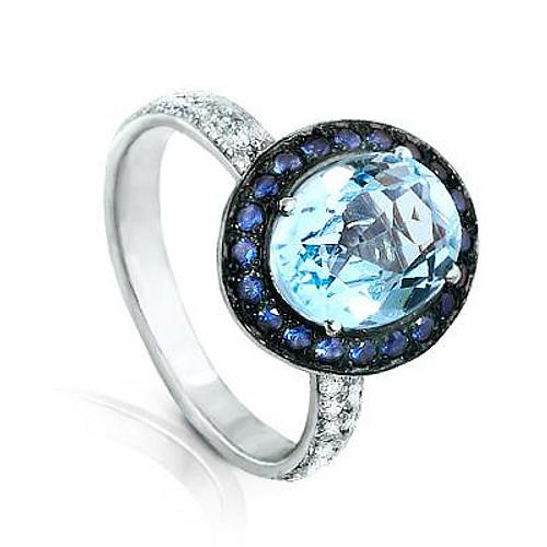 Серебряное кольцо Кварц и Фианит арт. я43500276 я43500276