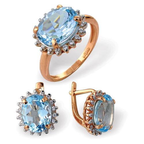 Серебряное кольцо Кварц и Фианит арт. 4к-729-04 4к-729-04