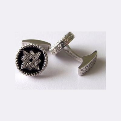 Серебряные запонки с эмалью арт. 140033 140033