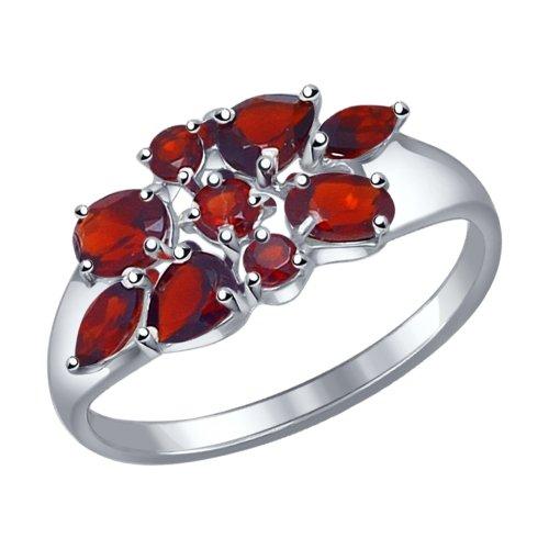 Серебряное кольцо Гранат арт. 92011104 92011104
