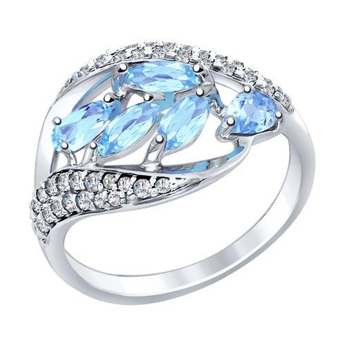 Серебряное кольцо Топаз и Фианит арт. 92011363 92011363