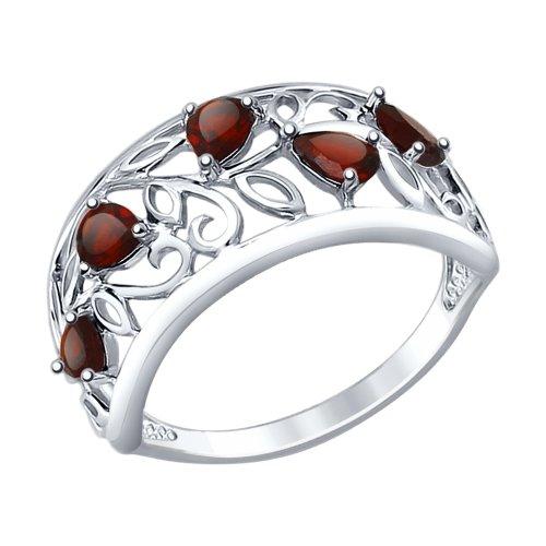 Серебряное кольцо Гранат арт. 92011376 92011376