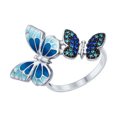 Серебряное кольцо Фианит и Эмаль арт. 94012325 94012325