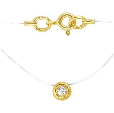 Колье-леска из белого золота с цирконием арт. 01л121582 01л121582
