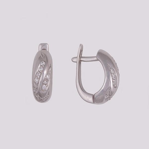 Серебряные серьги с цирконием арт. 20454-р 20454-р