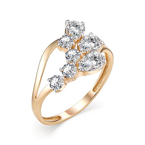 Золотое кольцо Фианит арт. 10-02-00157 10-02-00157
