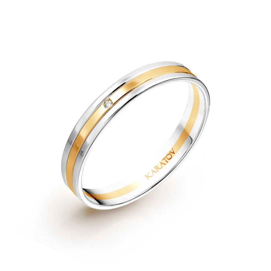 Обручальное кольцо из золота с бриллиантом арт. т131013905-к т131013905-к