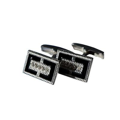 Серебряные запонки с эмалью арт. 141043 141043