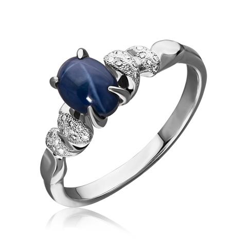 Золотое кольцо Бриллиант и Сапфир арт. 1-02426 1-02426