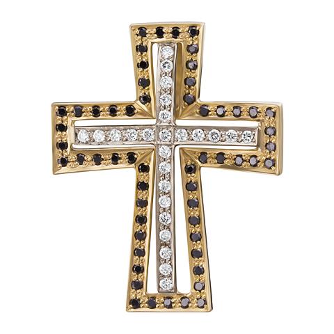 Крест из белого золота с бриллиантом арт. 3-00868 3-00868