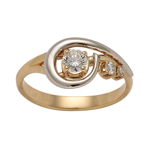 Золотое кольцо Бриллиант арт. 1-00838 1-00838