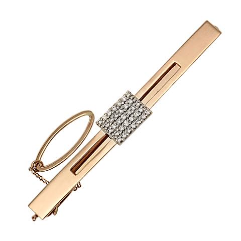 Золотой зажим с бриллиантом арт. 7-00537 7-00537