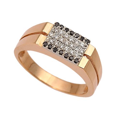 Золотая печатка с бриллиантом Бриллиант арт. 1-00442 1-00442