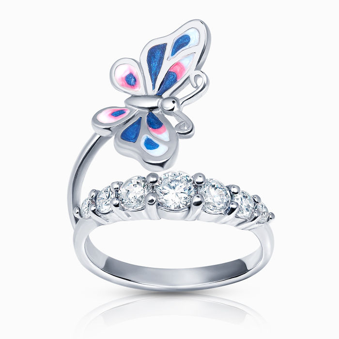Серебряное кольцо Фианит и Эмаль арт. 40299 40299
