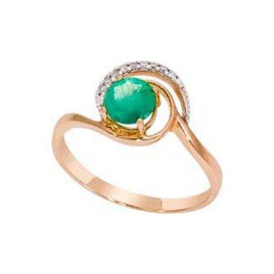 Золотое кольцо Бриллиант и Изумруд арт. 1016091-11140-и 1016091-11140-и