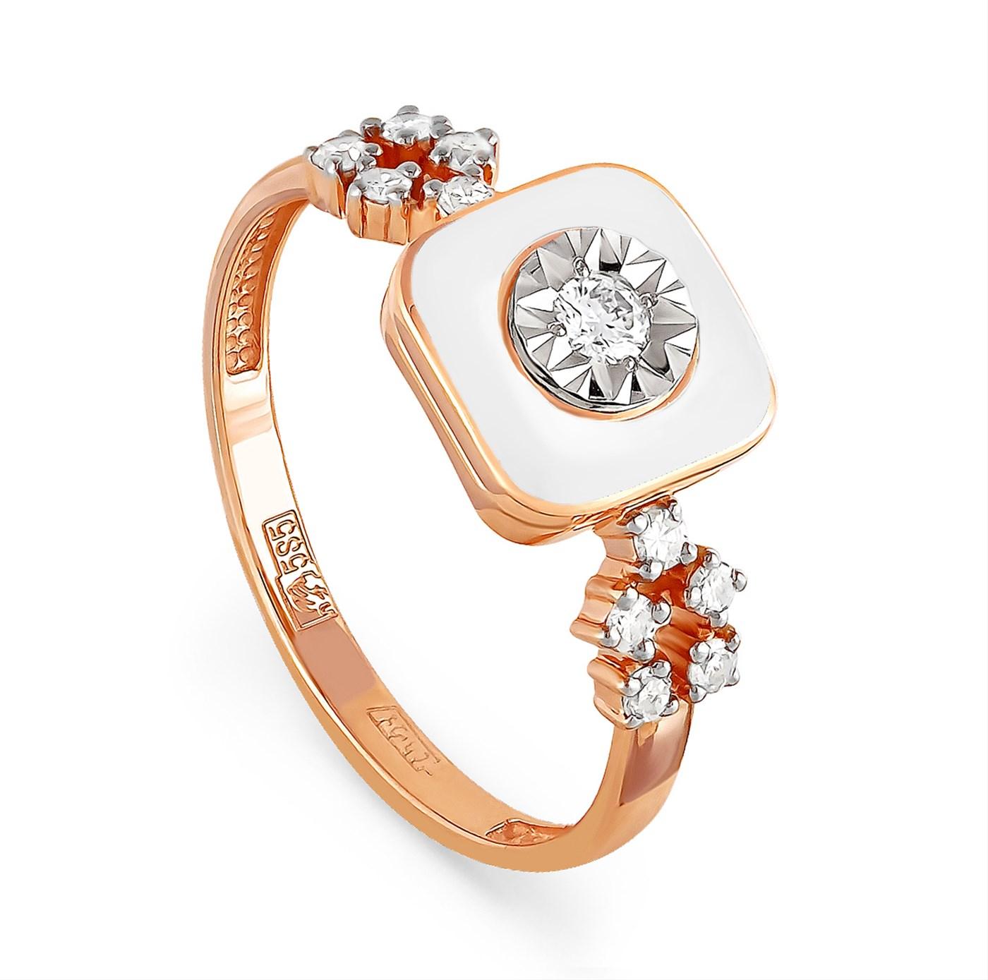 Золотое кольцо Бриллиант и Эмаль арт. 11-0803-1010 11-0803-1010