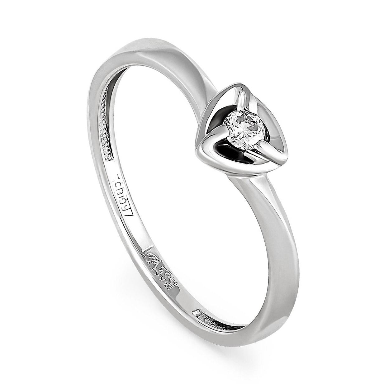 Помолвочное кольцо из белого золота с бриллиантом Бриллиант арт. 11-1857-1000 11-1857-1000