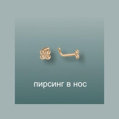 Пирсинг в нос из золота арт. 06-1665-00-000111002 06-1665-00-000111002