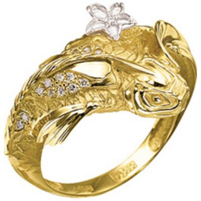 Кольцо из лимонного золота Бриллиант арт. к-24043 к-24043