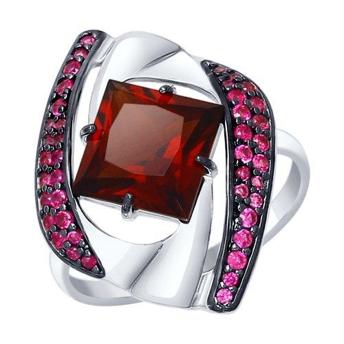 Серебряное кольцо Гранат и Фианит арт. 92011325 92011325
