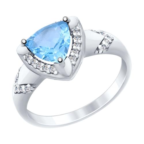 Серебряное кольцо Топаз и Фианит арт. 92011454 92011454