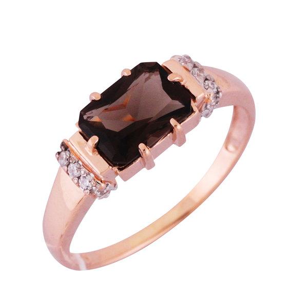 Золотое кольцо Кварц и Фианит арт. 1310235 1310235