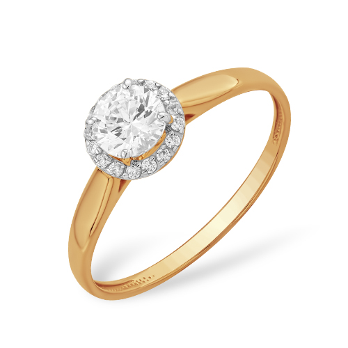 Золотое кольцо Кристалл сваровски арт. к1326227 к1326227