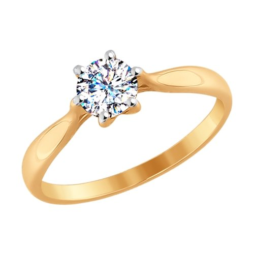 Золотое кольцо Кристалл сваровски арт. 81010285 81010285