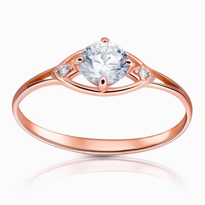 Кольцо серебряное с позолотой Фианит арт. 45661 45661