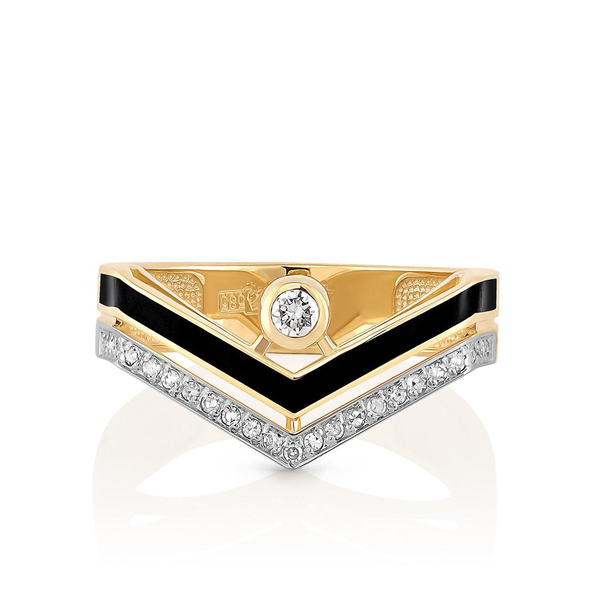 Кольцо из лимонного золота Бриллиант арт. 11-21051-1002 11-21051-1002
