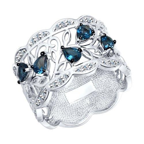 Серебряное кольцо Топаз и Фианит арт. 92011315 92011315