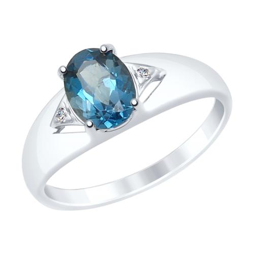 Серебряное кольцо Топаз и Фианит арт. 92011504 92011504