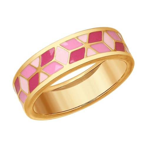 Кольцо серебряное с позолотой Эмаль арт. 93010709 93010709